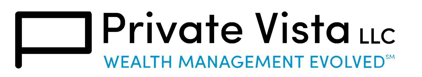 Private Vista LLC and tagline blue logo2