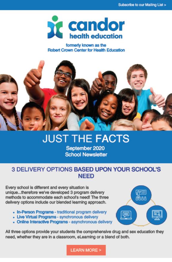 Sept 2020 Newsletter – School