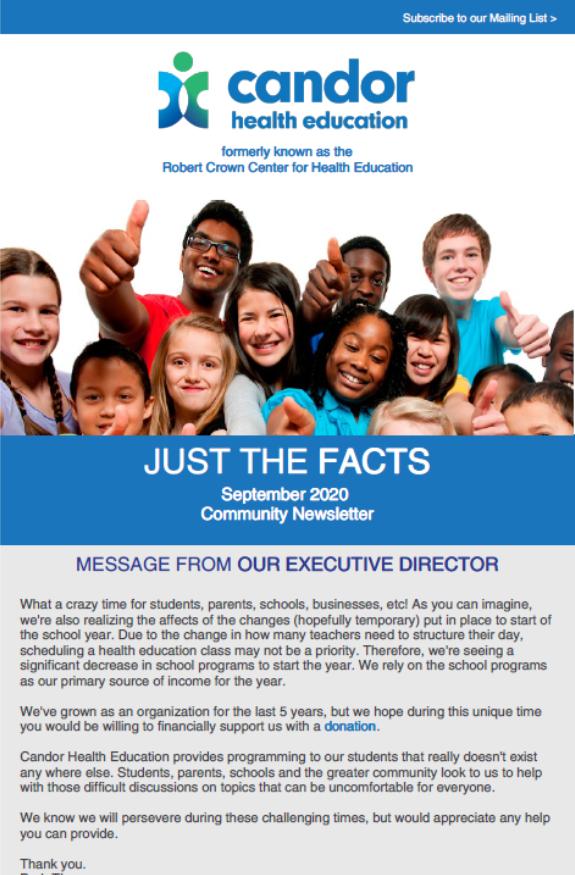 September 2020 Newsletter – Community School